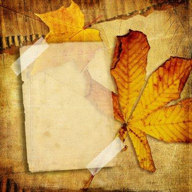Vintage photo album series -autumn