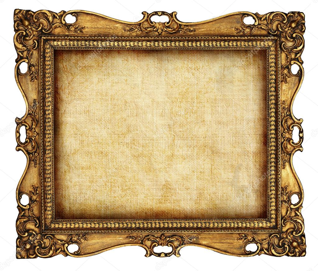 Antique frame with old canvas stock photo maugli 12820958 for How to make vintage frames