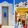 Stock Photo: Colors of Santorini - travel in Greek islands series