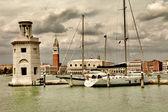 Venice - artwork in retro style — Stock Photo