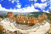 Ancient theater in Acropolis Greece, Athnes — Stock Photo