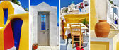 Colors of Santorini - travel in Greek islands series — Stock Photo
