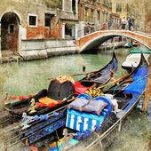 威尼斯。吊船. — 图库照片