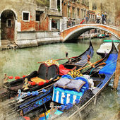 Venice. gondolas. — Stock Photo