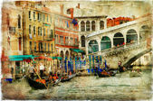 Venice, Rialto bridge — Stock Photo