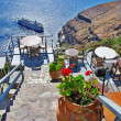 Greek holidays - Santorini — Stock Photo