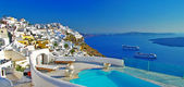 Luxury Greek holidays - Santorini — Stock Photo
