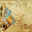 Stock Photo: Vintage postal card - europeholidays