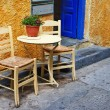 Traditional greek tavernas. artistic picture — Stock Photo
