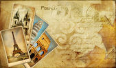 Vintage postal card - european holidays — Foto Stock