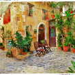 Stock Photo: Old streets, Crete