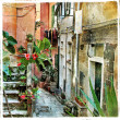 Old  streets of Italy - Stock Photo