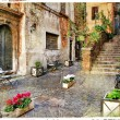 Old Italy streets of Italy. Rome — Stock Photo #17974559