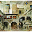 Stock Photo: Medieval towns of Italy. Viterbo