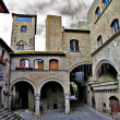 Medieval towns of Italy, retro picture - Stock Photo