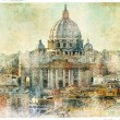 Vatican  - retro style picture - Stock Photo