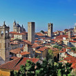 Travel in Italy series - ancient Bergamo, upper town - Foto Stock