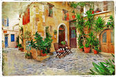 Old streets, Crete — Stock Photo