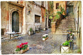 Old Italy streets of Italy. Rome — Stock Photo