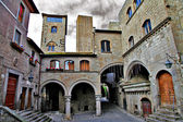Medieval towns of Italy, retro picture — 图库照片