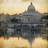 梵蒂冈-复古风格图片 — 图库照片