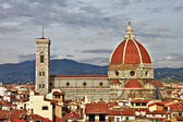 Beautiful Florence - city view with Duomo — Stock Photo