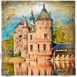 Medieval castle - artwork in painting style (from my castles collection) — 图库照片