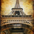 Stock Photo: Retro styled background - Eiffel tower