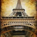 retro stijl achtergrond - Eiffeltoren — Stockfoto