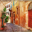 Old pictorial greek streets - vintage artistic series — Stock Photo #18310357