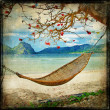 Stock Photo: Tropical scene- artwork in painting style