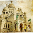 Sacre coeur - artistic Parisian series - Stock Photo