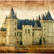 Chaumont castle - vintage card - Stock Photo