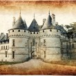 Chaumont castle - vintage card — Stock Photo