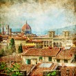 Stock Photo: Florence - retro style picture