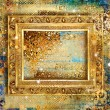 Stock Photo: Stylish vintage background with golden frame