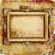 Stylish vintage background with golden frame — Stock Photo
