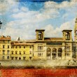 Vintage cards - European landmarks - Siena(Tuscany) - Stock Photo