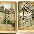 Castles of France- Chaumont - artistic toned vintage picture — Stock Photo