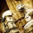 Italian sculpture - Florence,artistic toned picture — Stock Photo