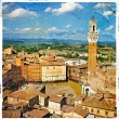 Pictures of Italy - Siena - artistic retro style — Stock Photo