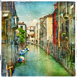 Great Italian landmarks series - Venice artistic picture - Stock Photo