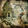 Ancient balinese temple - artistic toned picture - Foto Stock