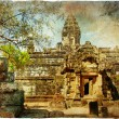 Ancient balinese temple - artistic toned picture - Stock Photo
