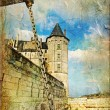 Old medieval castle - picture in vintage style — Stock Photo #18315831