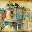 Old medieval castle - picture in vintage style — Stock Photo