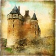 Medieval castle - artwork in painting style — Stock Photo #18315895