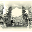Temples of Bali- sepia toned picture - Stock Photo