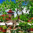 Tropical villa with beautiful garden - ストック写真