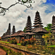 Stock Photo: Balinese temple - artwork in retro style